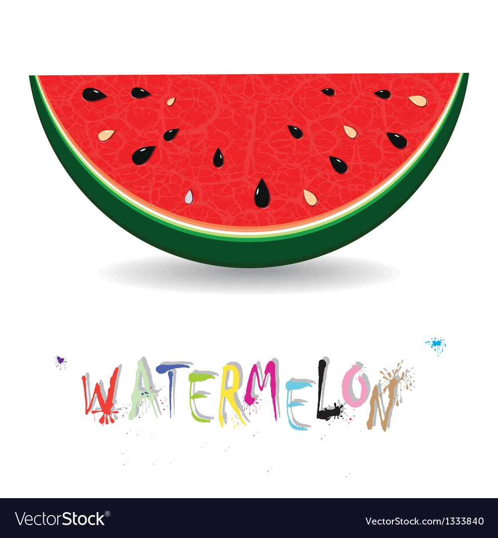 Watermelon fresh slices background vector | Price: 1 Credit (USD $1)