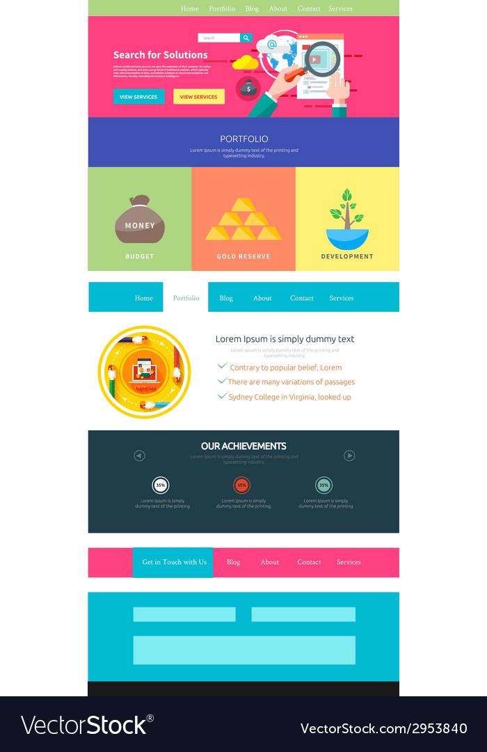 Website page template web design vector | Price: 1 Credit (USD $1)
