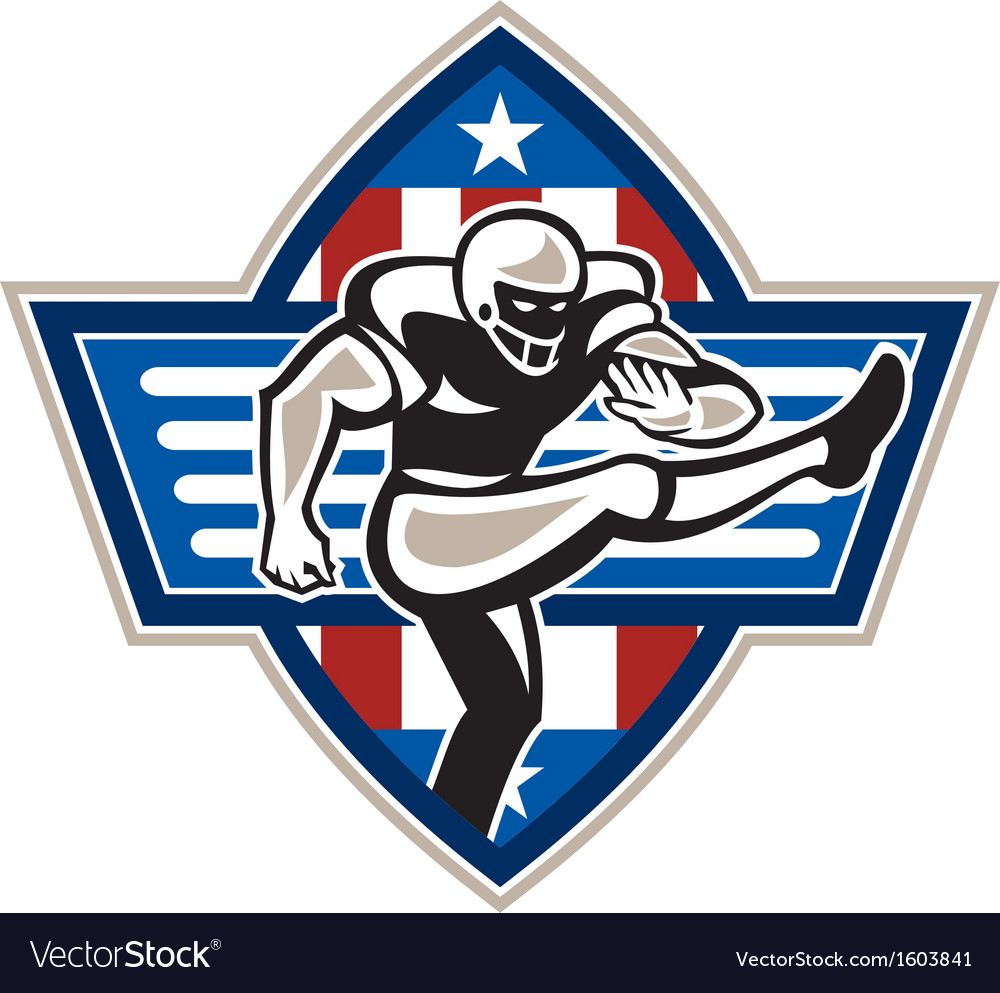 American football placekicker vector | Price: 1 Credit (USD $1)