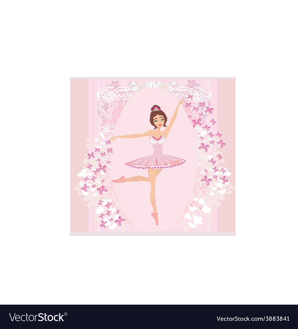 Beautiful ballerina - abstract card with vector | Price: 1 Credit (USD $1)