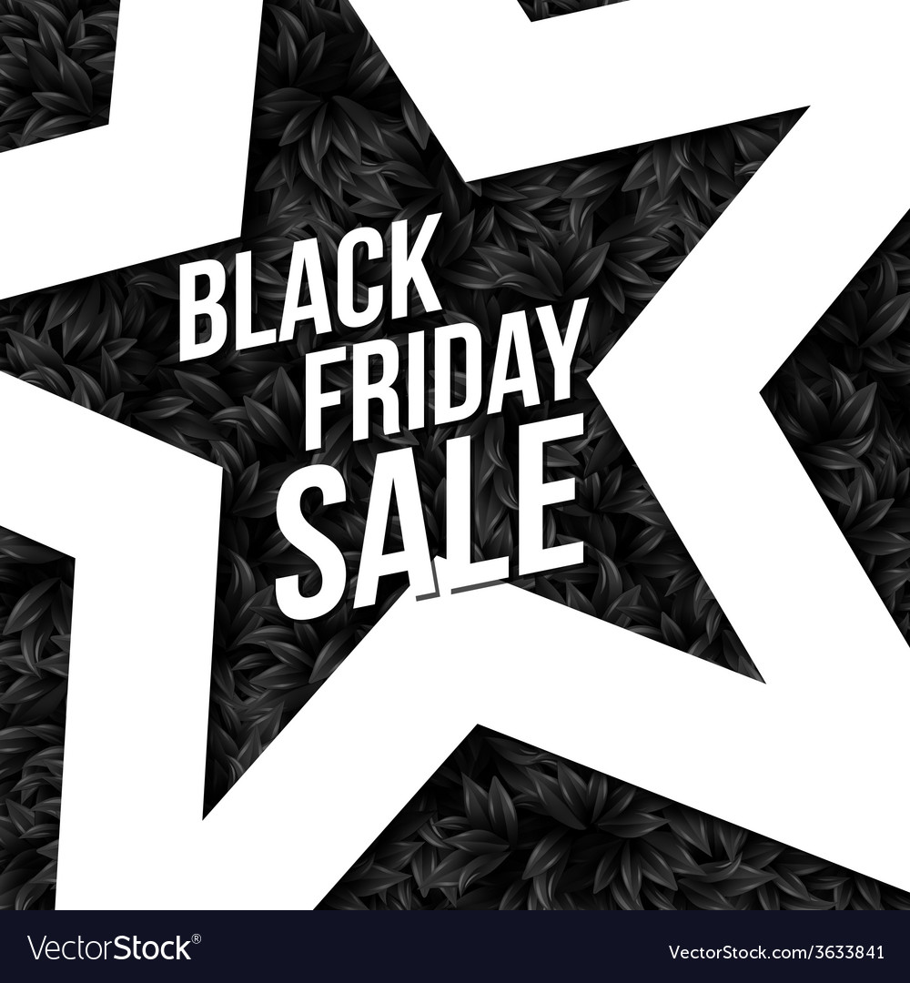 Black friday sale poster vector | Price: 1 Credit (USD $1)