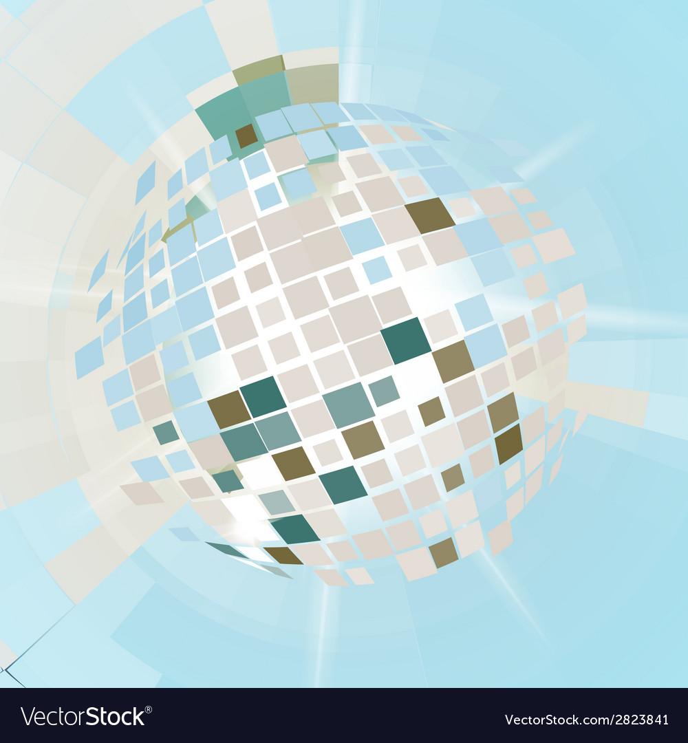 Disco ball explosion vector | Price: 1 Credit (USD $1)