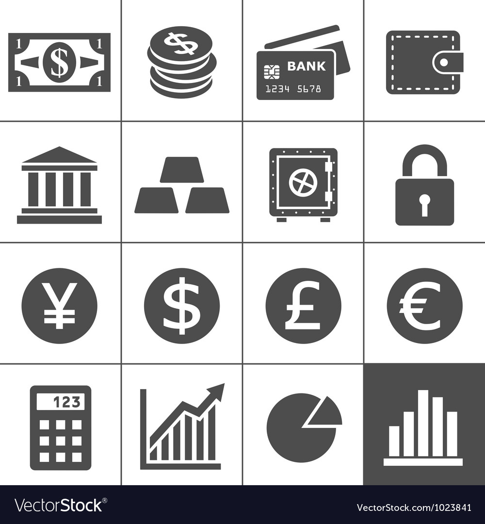 Financal icons set - simplus series vector | Price: 1 Credit (USD $1)