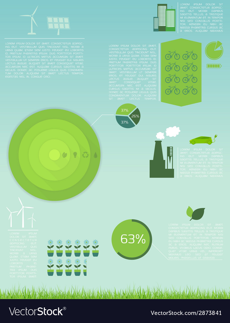 Green eco infographic vector | Price: 1 Credit (USD $1)