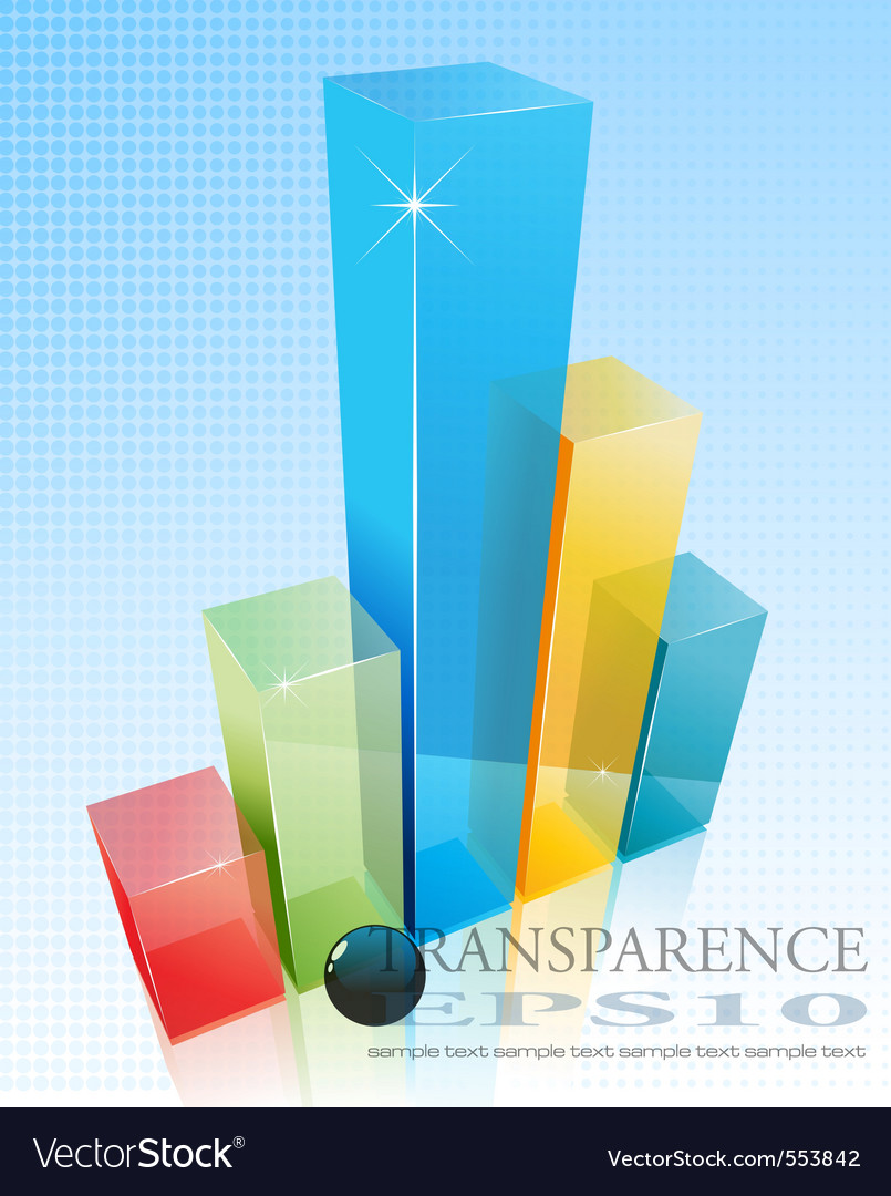 3d transparent graph vector | Price: 1 Credit (USD $1)