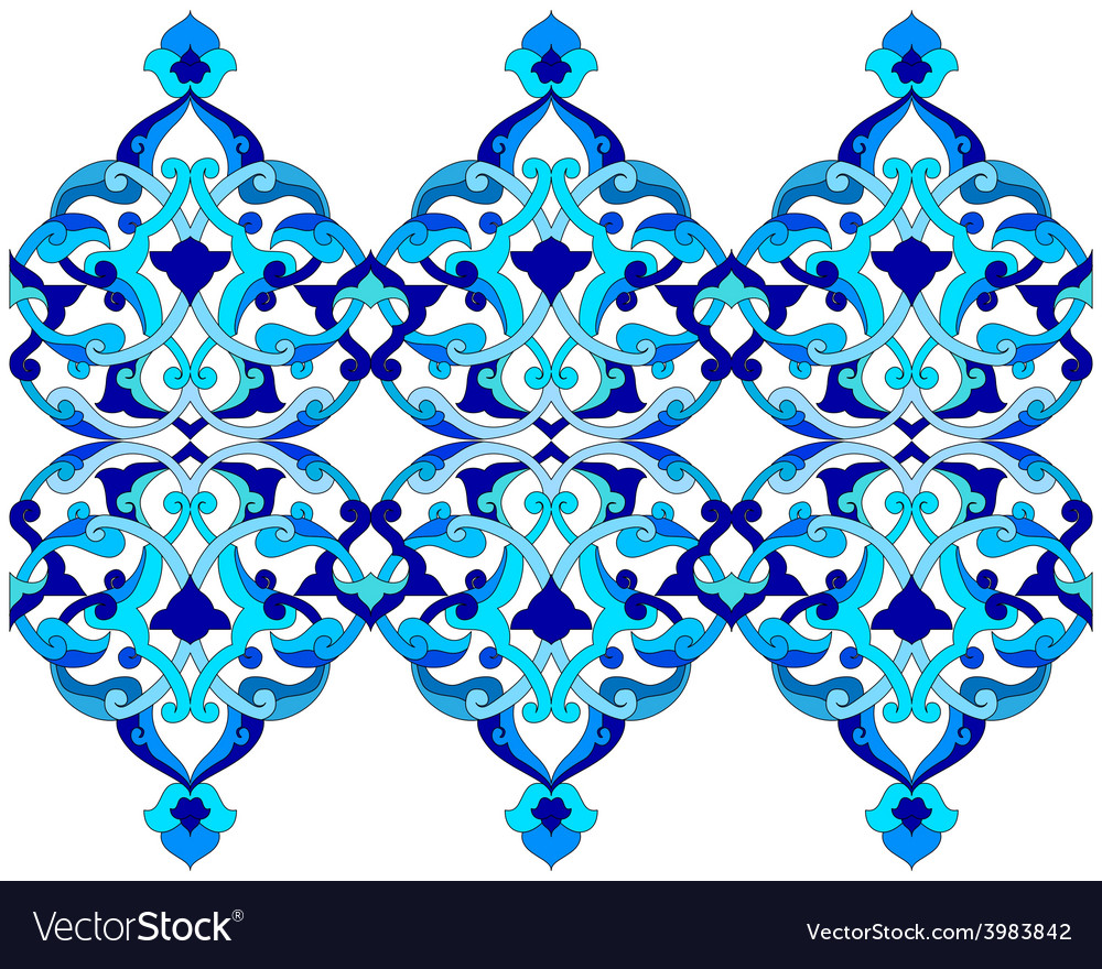 Artistic ottoman pattern series sixty six vector | Price: 1 Credit (USD $1)