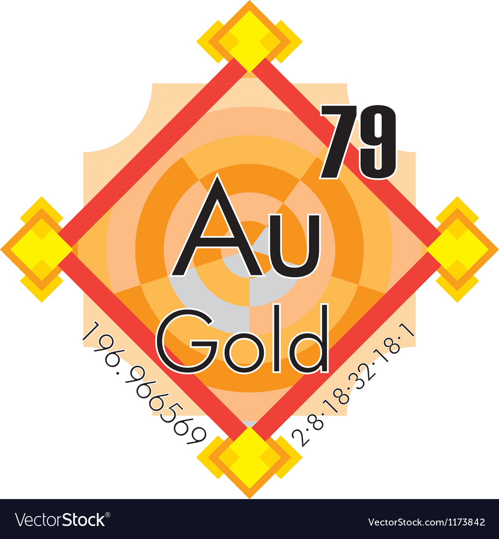 Au - gold vector | Price: 1 Credit (USD $1)