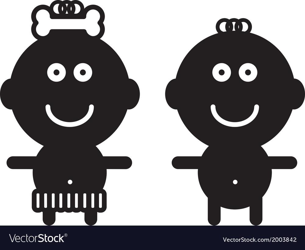Cute simple children - vector | Price: 1 Credit (USD $1)