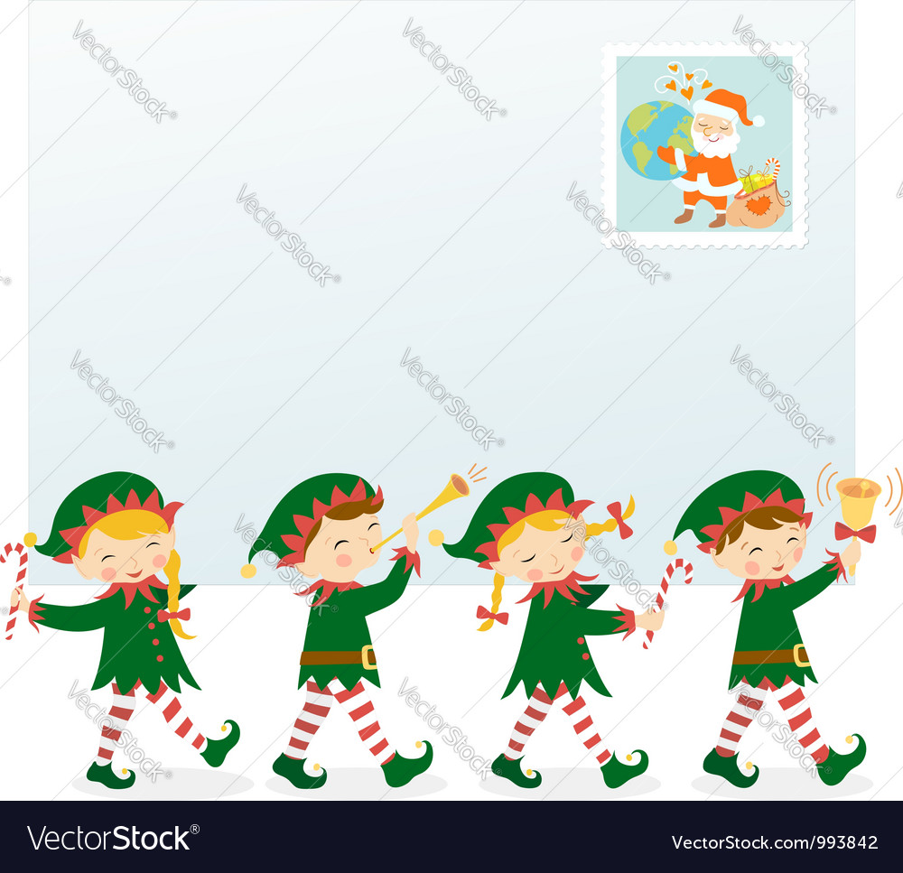 From santa with love vector | Price: 3 Credit (USD $3)