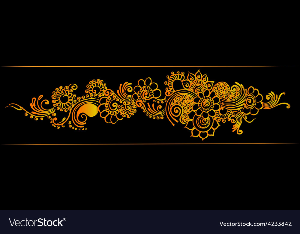 Gold indian border vector   Price: 1 Credit (USD $1)