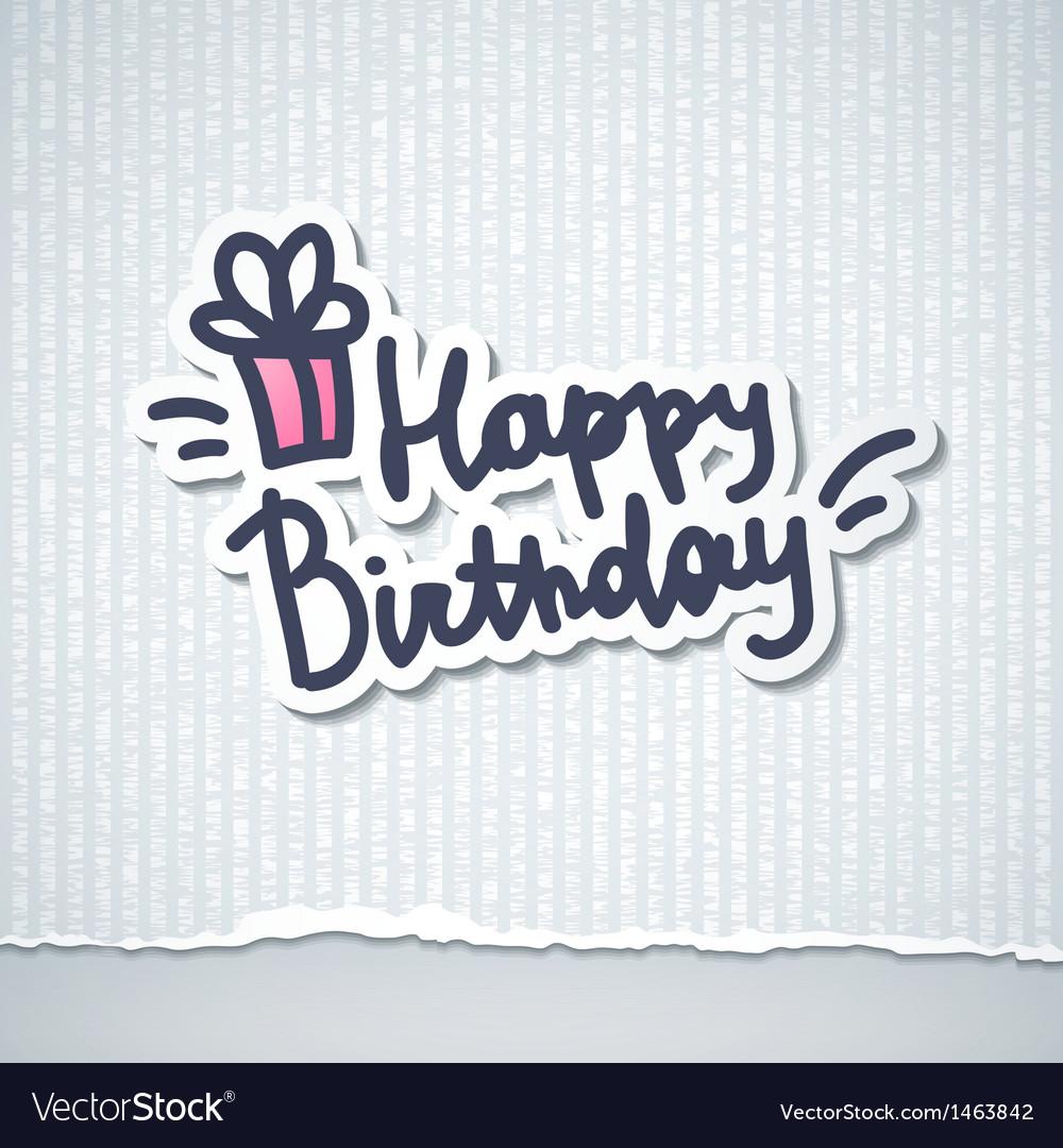 Happy birthday vector | Price: 1 Credit (USD $1)
