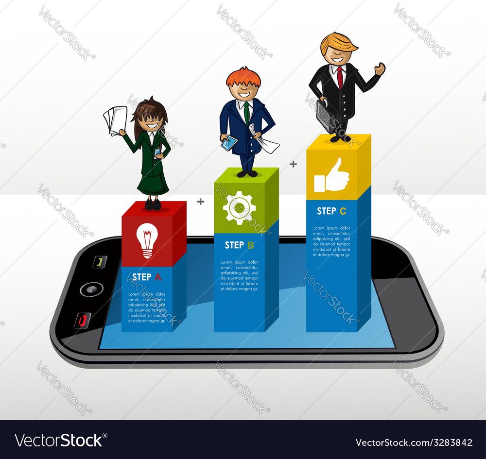 Mobile business infographic concept vector | Price: 1 Credit (USD $1)