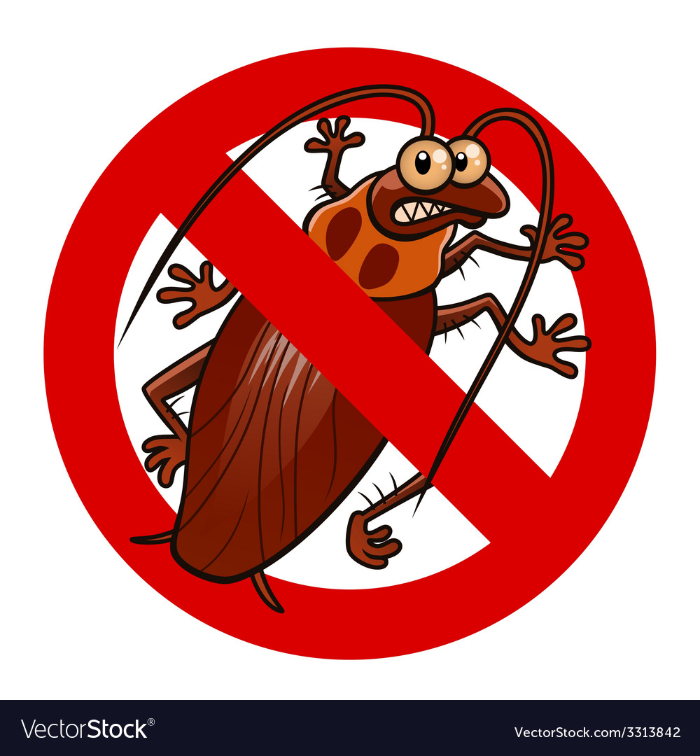 No cockroaches sign vector | Price: 1 Credit (USD $1)