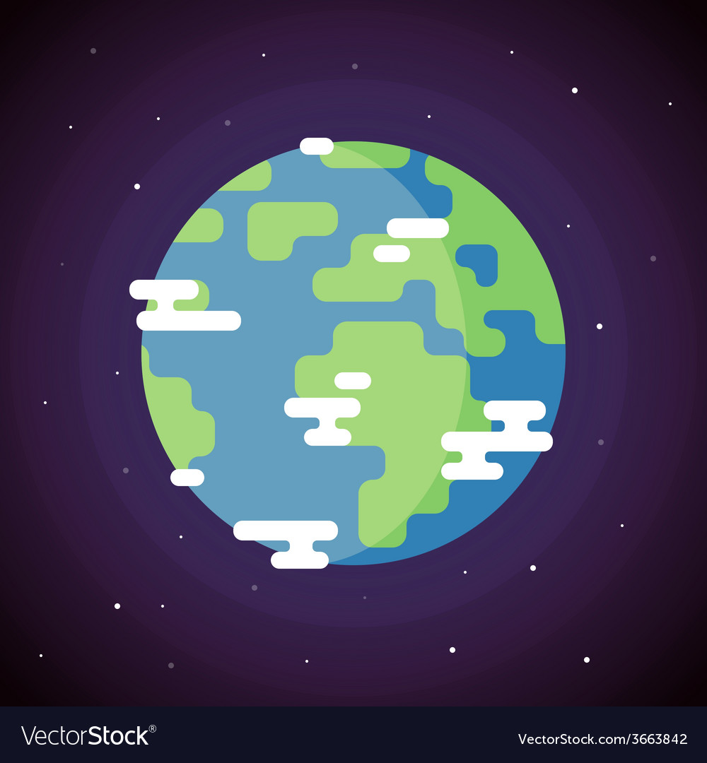 Planet earth icon flat vector | Price: 1 Credit (USD $1)