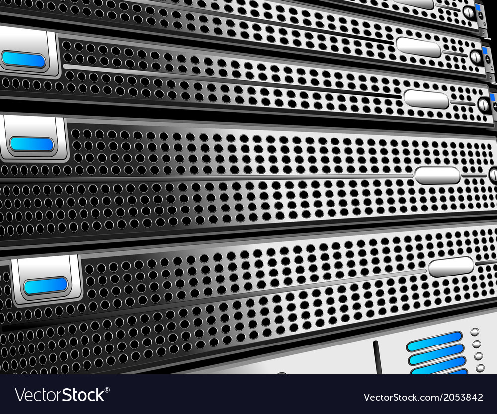 Servers rack vector | Price: 1 Credit (USD $1)