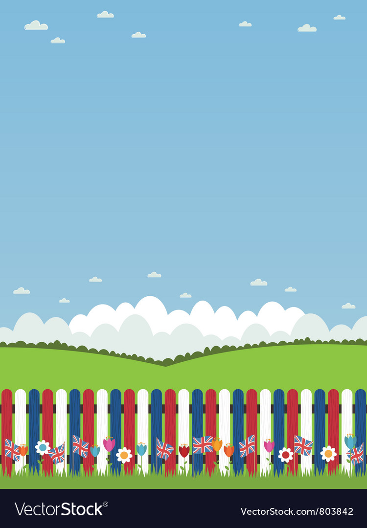 Uk picket fence vector | Price: 1 Credit (USD $1)