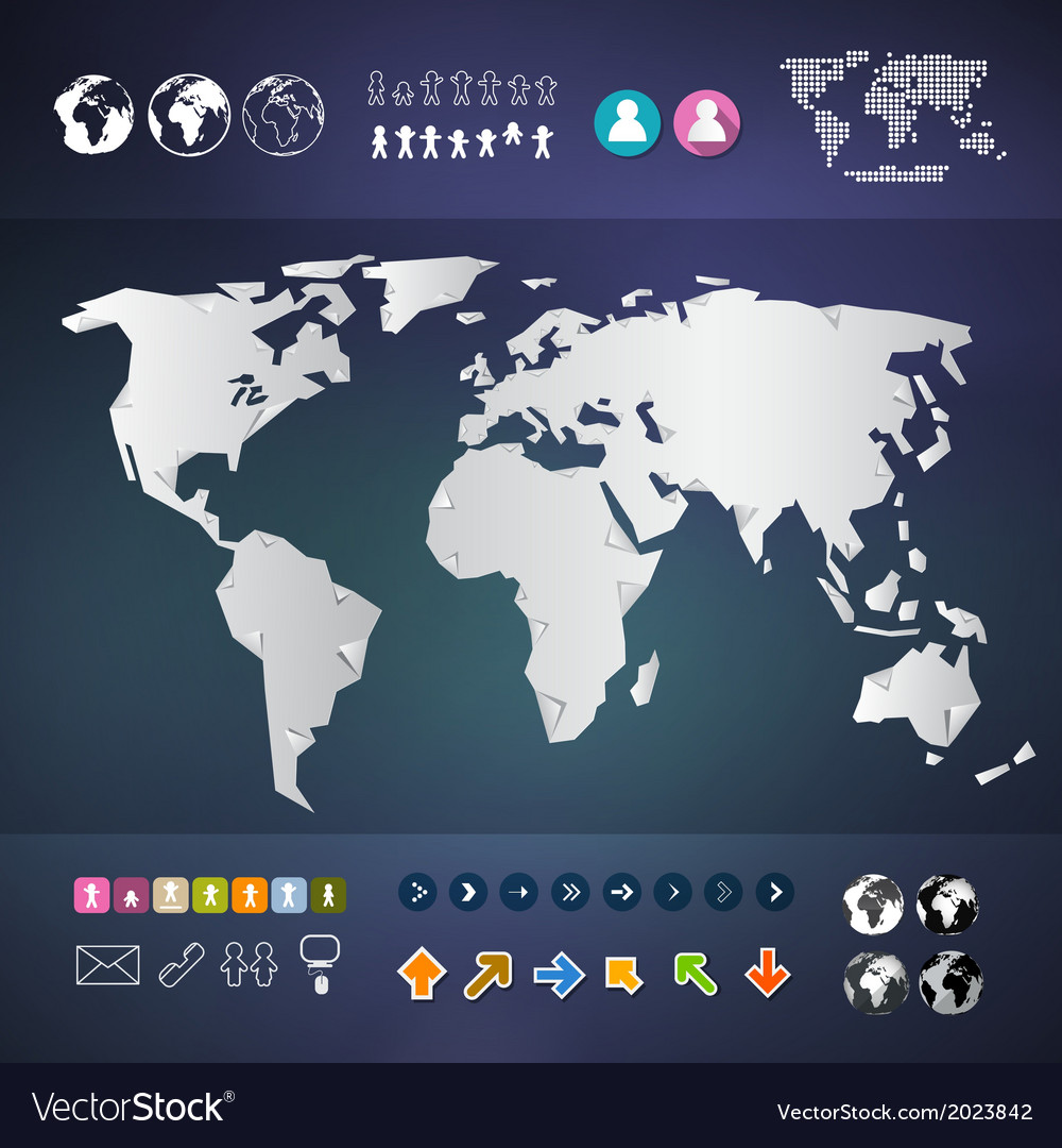World map infographics template vector | Price: 1 Credit (USD $1)