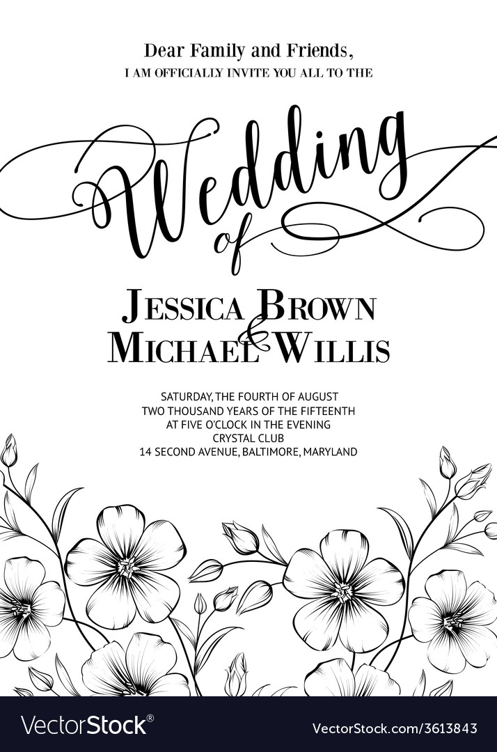 Awesome wedding invitation vector | Price: 1 Credit (USD $1)