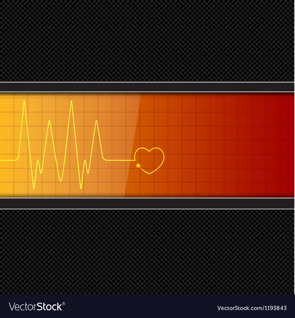 Background with heart pulse monitor vector | Price: 1 Credit (USD $1)