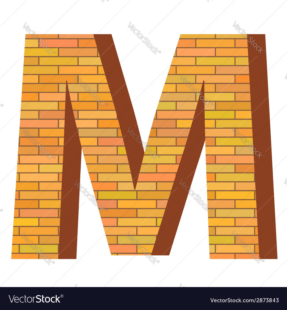 Brick letter m vector | Price: 1 Credit (USD $1)
