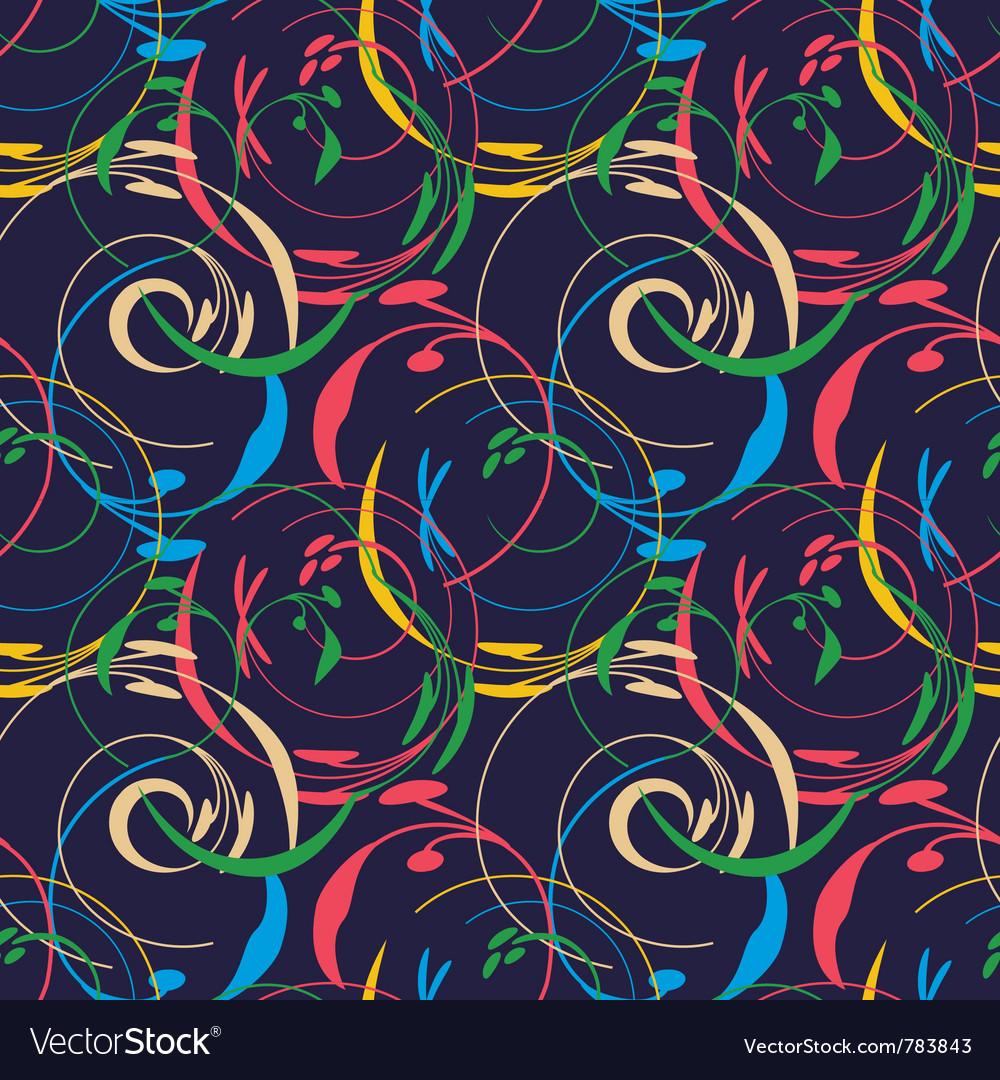 Elegant floral wallpaper seamless vector   Price: 1 Credit (USD $1)