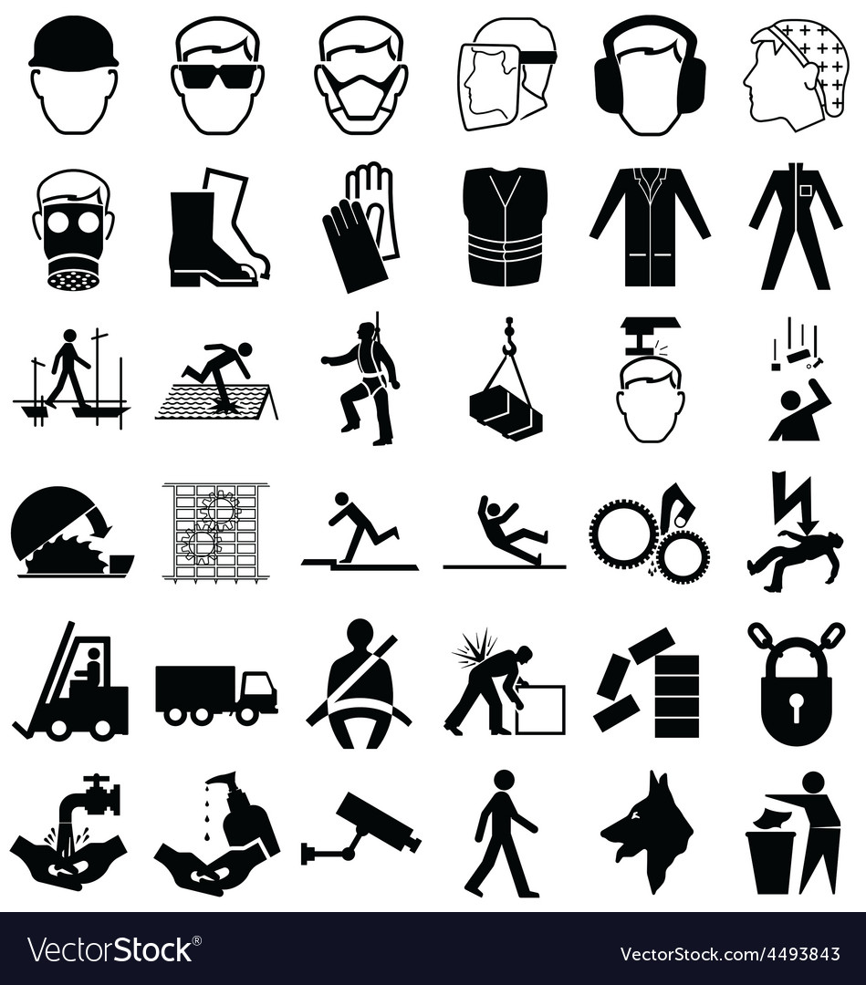 Health and safety graphics vector | Price: 1 Credit (USD $1)