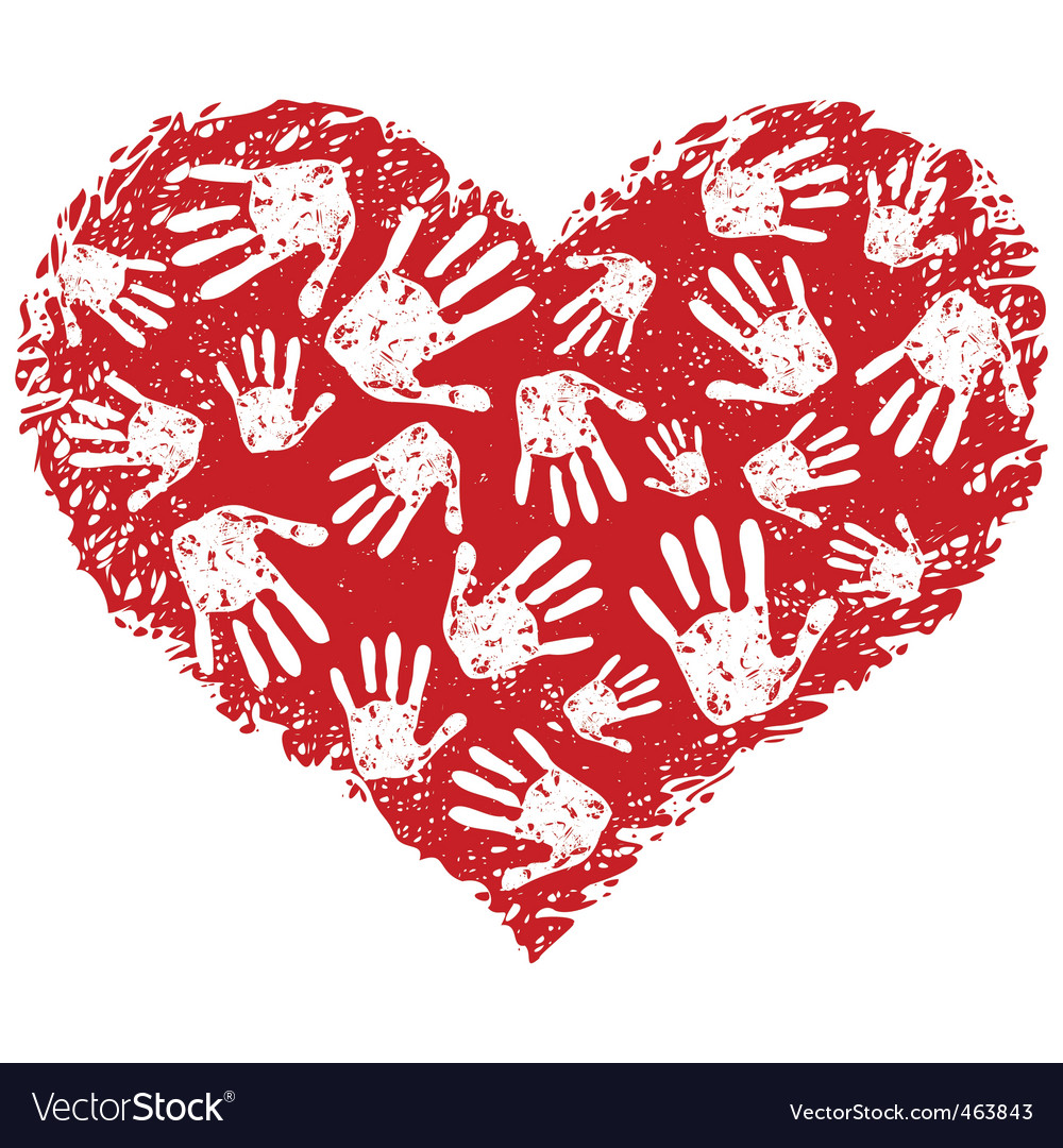 Heart print vector   Price: 1 Credit (USD $1)