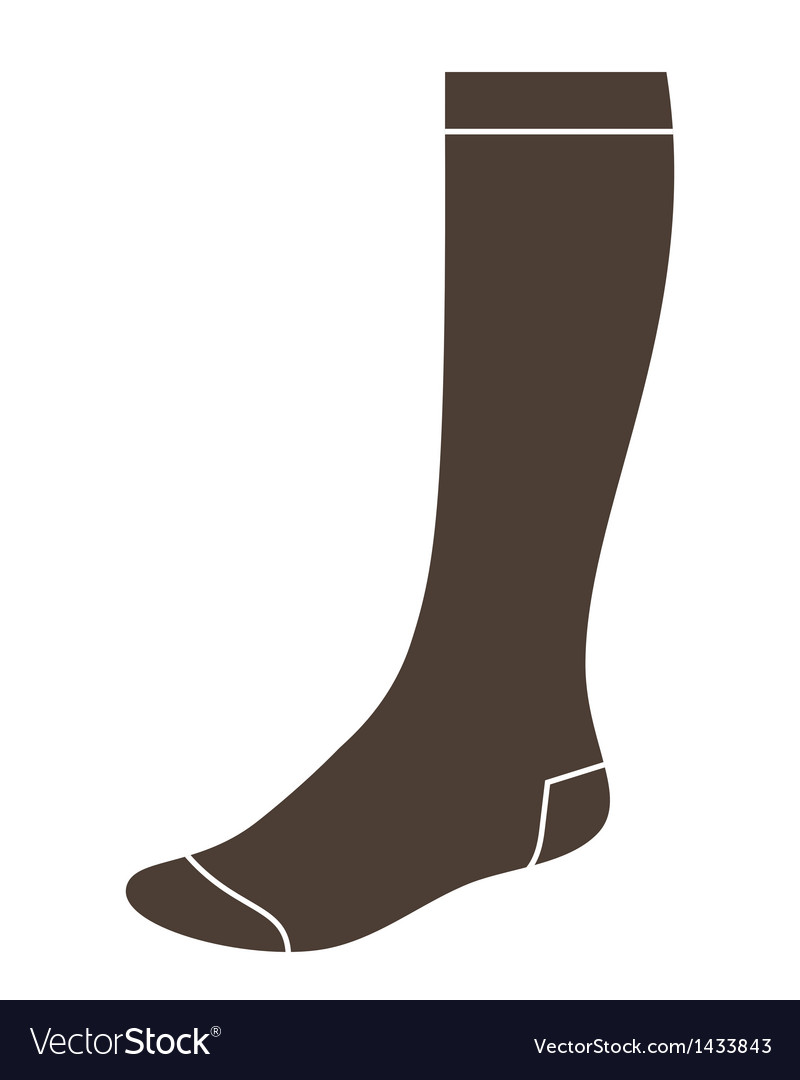 Long sock vector | Price: 1 Credit (USD $1)