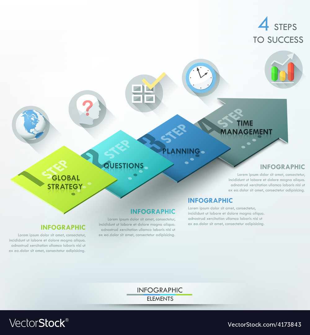 Modern infographics options banner vector | Price: 3 Credit (USD $3)