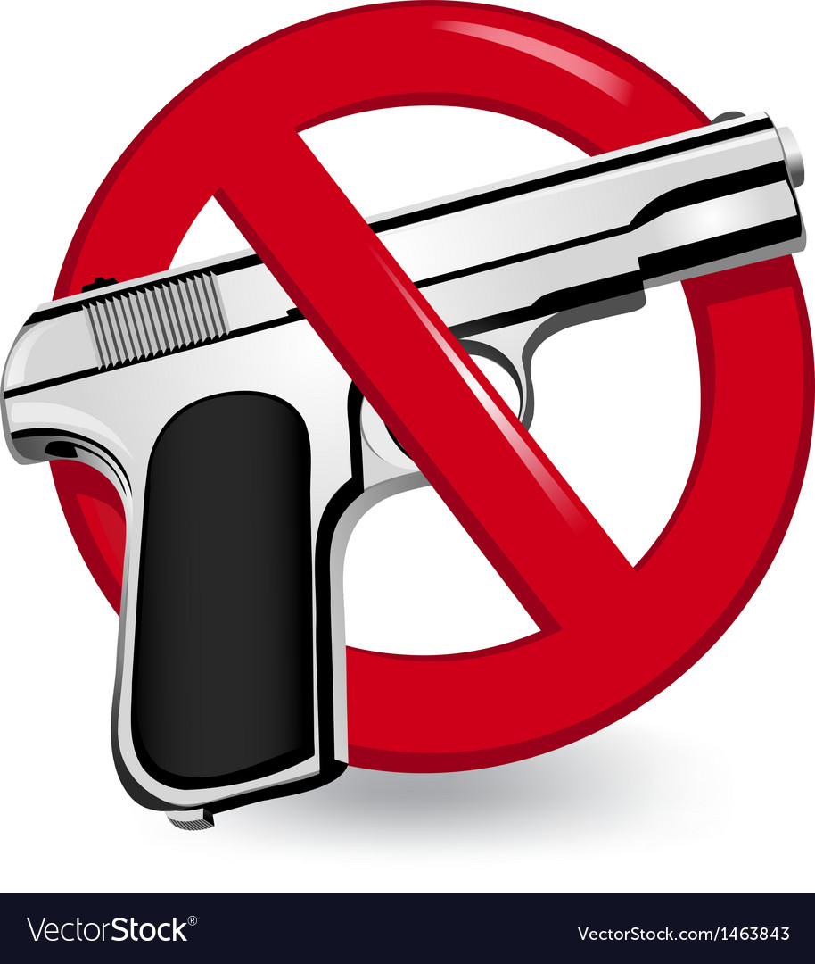 No guns sign vector | Price: 1 Credit (USD $1)