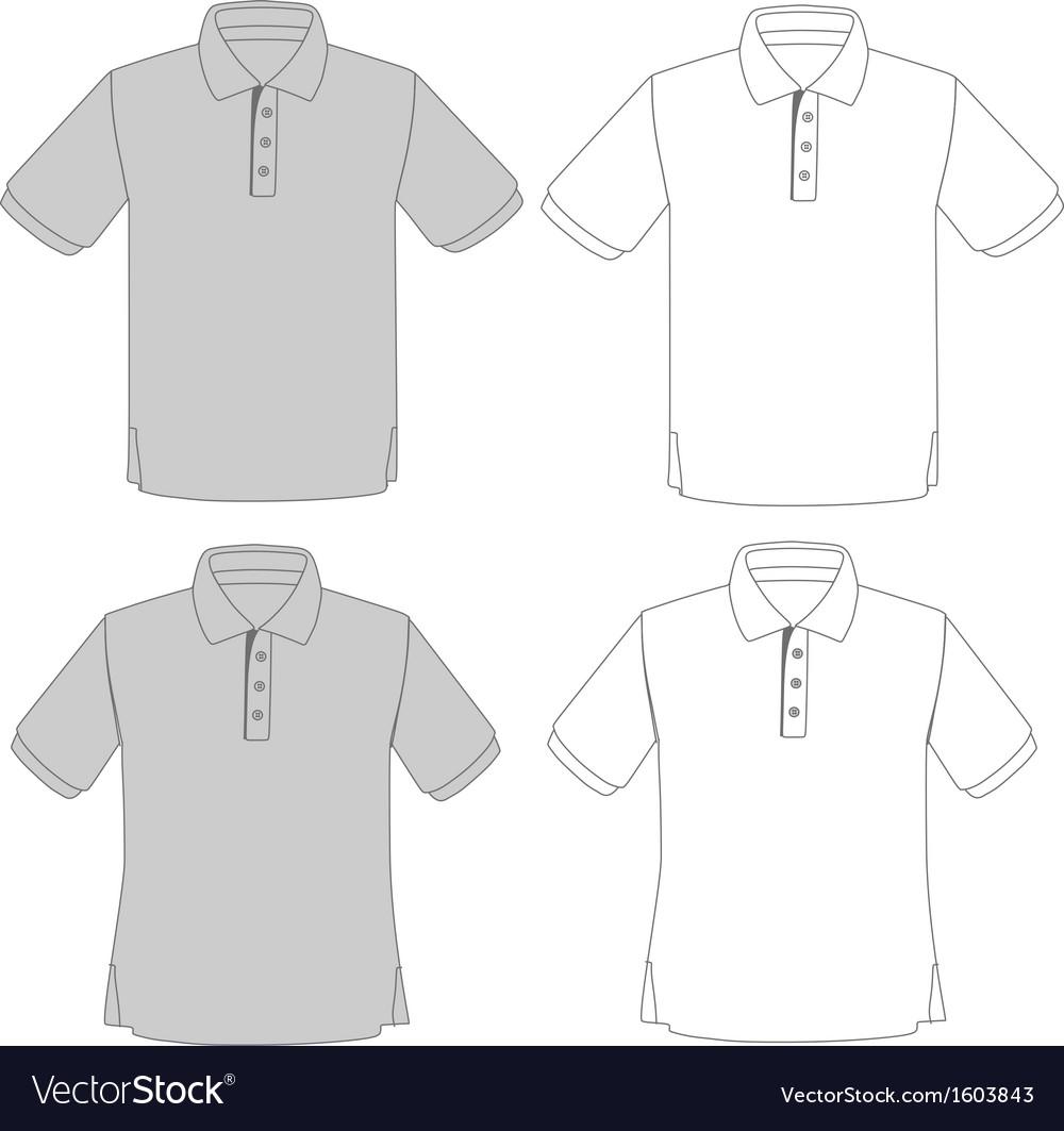 Polo shirt set vector | Price: 1 Credit (USD $1)
