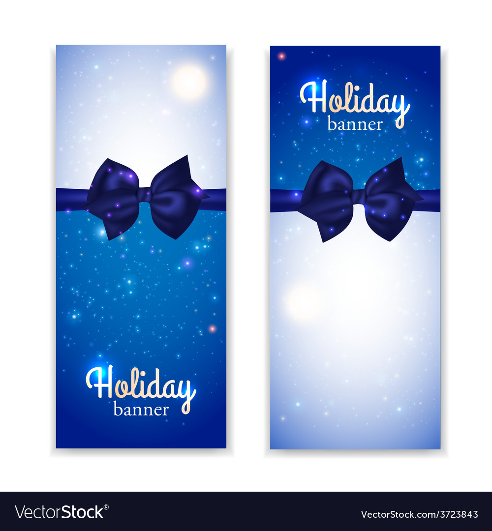 Set of two vertical holiday banners with vector | Price: 1 Credit (USD $1)