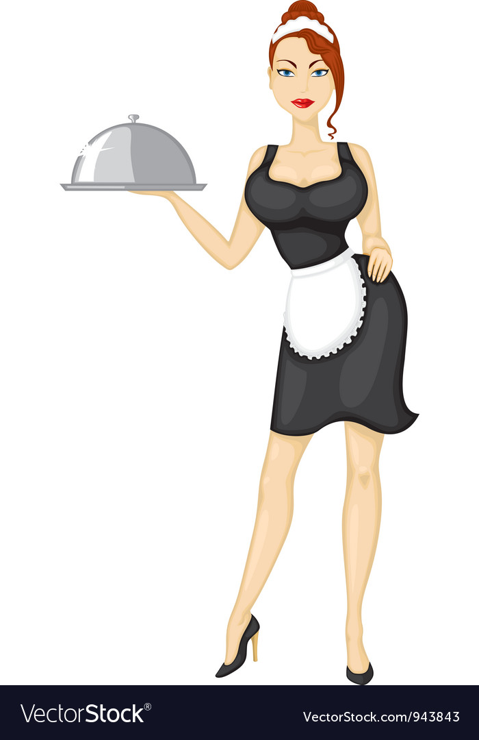 Waitress brings the order vector | Price: 3 Credit (USD $3)