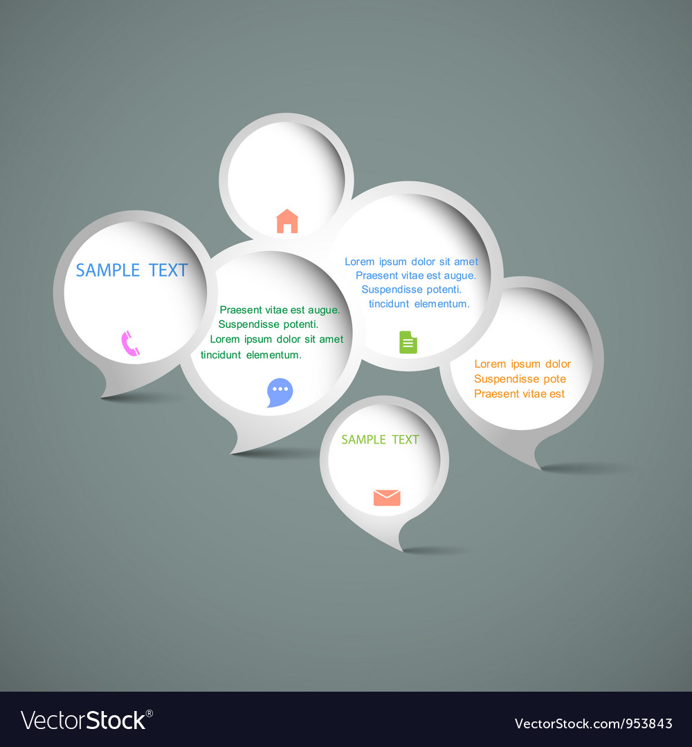 Web design speech bubbles vector | Price: 1 Credit (USD $1)