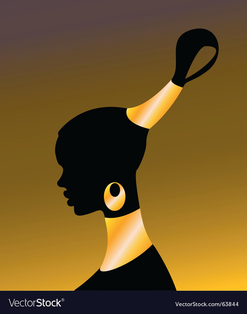 African girl vector | Price: 1 Credit (USD $1)