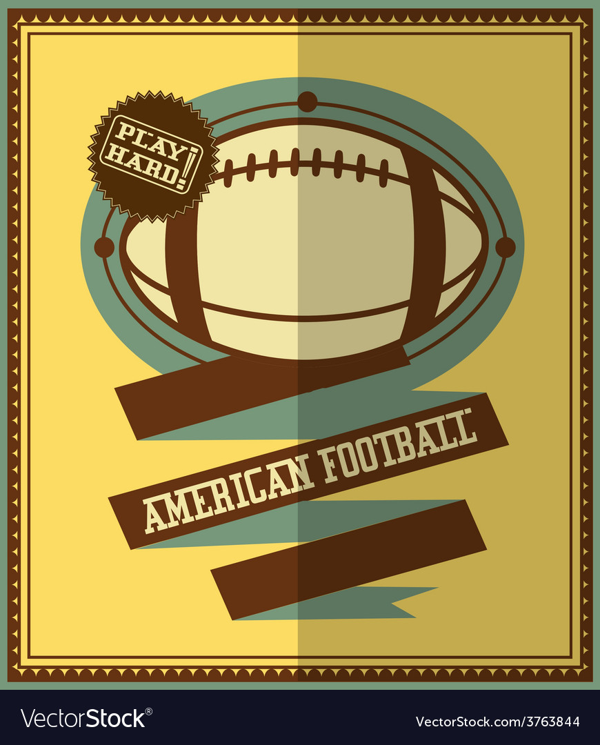 American football icons vector | Price: 1 Credit (USD $1)