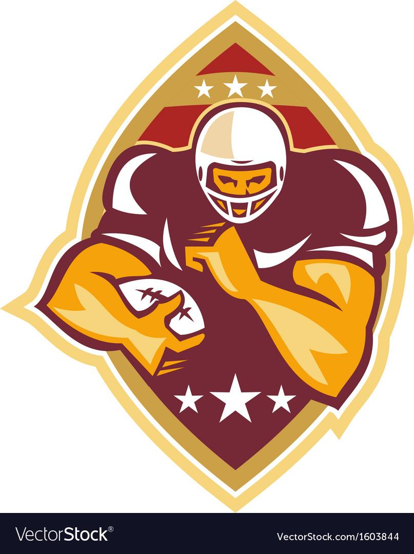 American football running back star ball vector | Price: 1 Credit (USD $1)