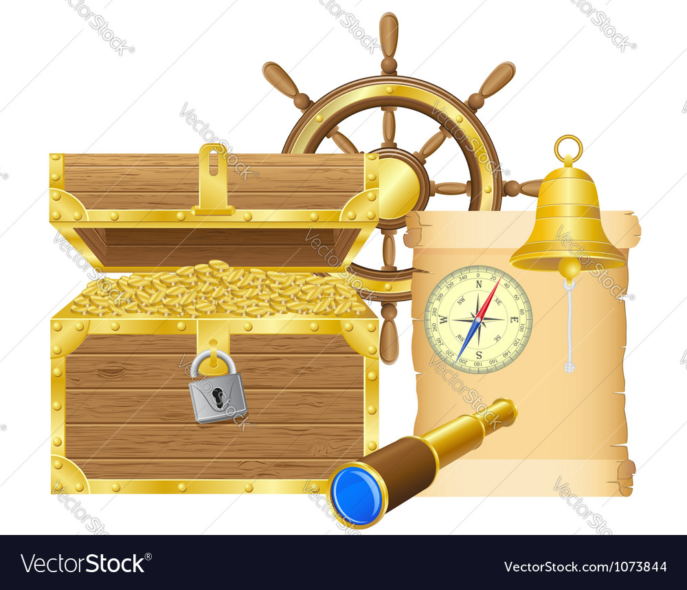 Antique treasure chest vector | Price: 3 Credit (USD $3)