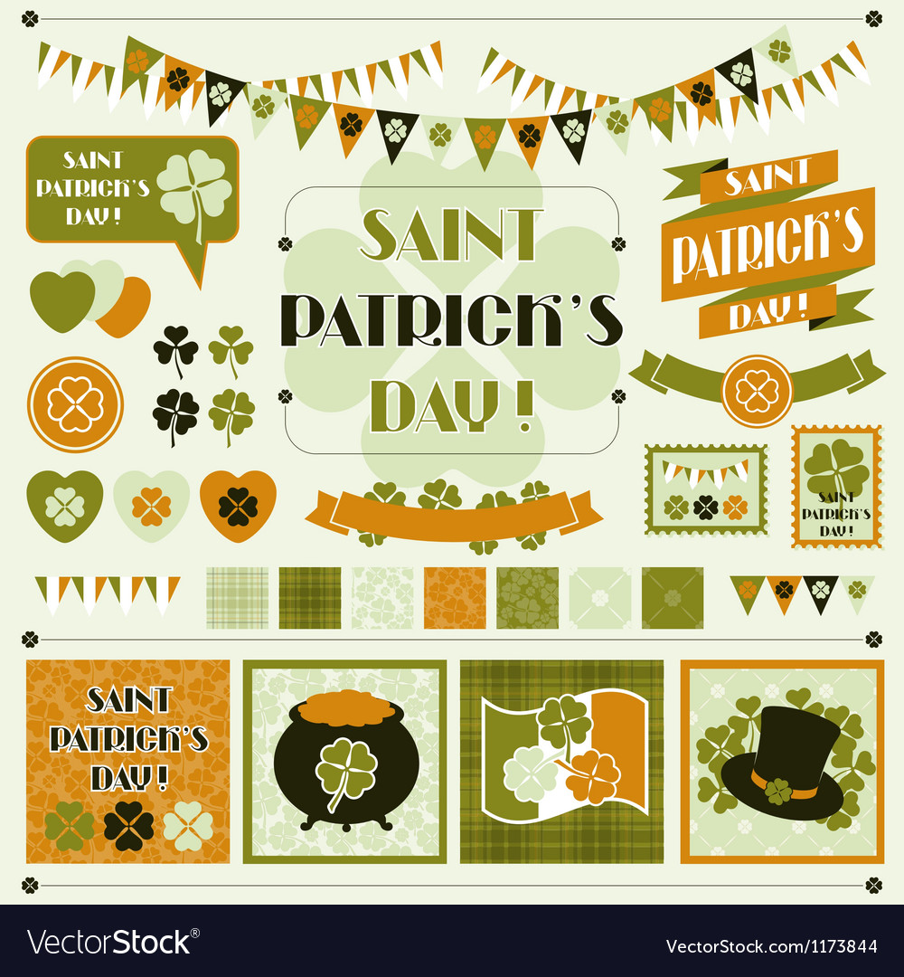 Collection design elements of saint patricks day vector | Price: 3 Credit (USD $3)