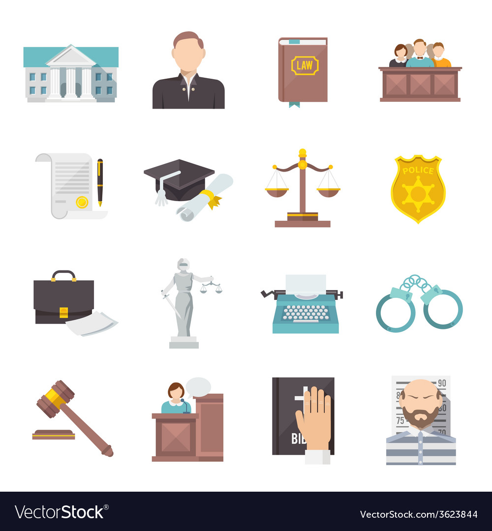 Law icon flat vector | Price: 1 Credit (USD $1)