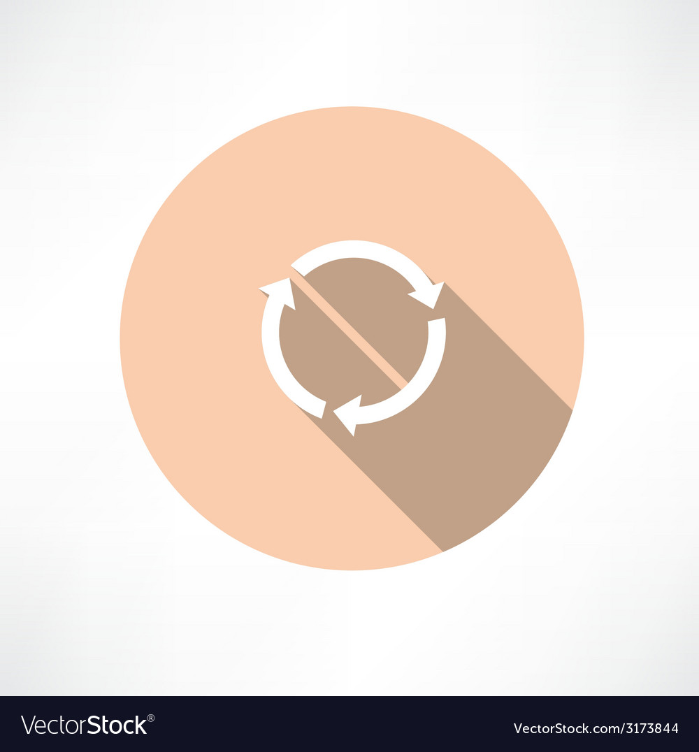 Refresh circle cycle arrow signs icon vector | Price: 1 Credit (USD $1)