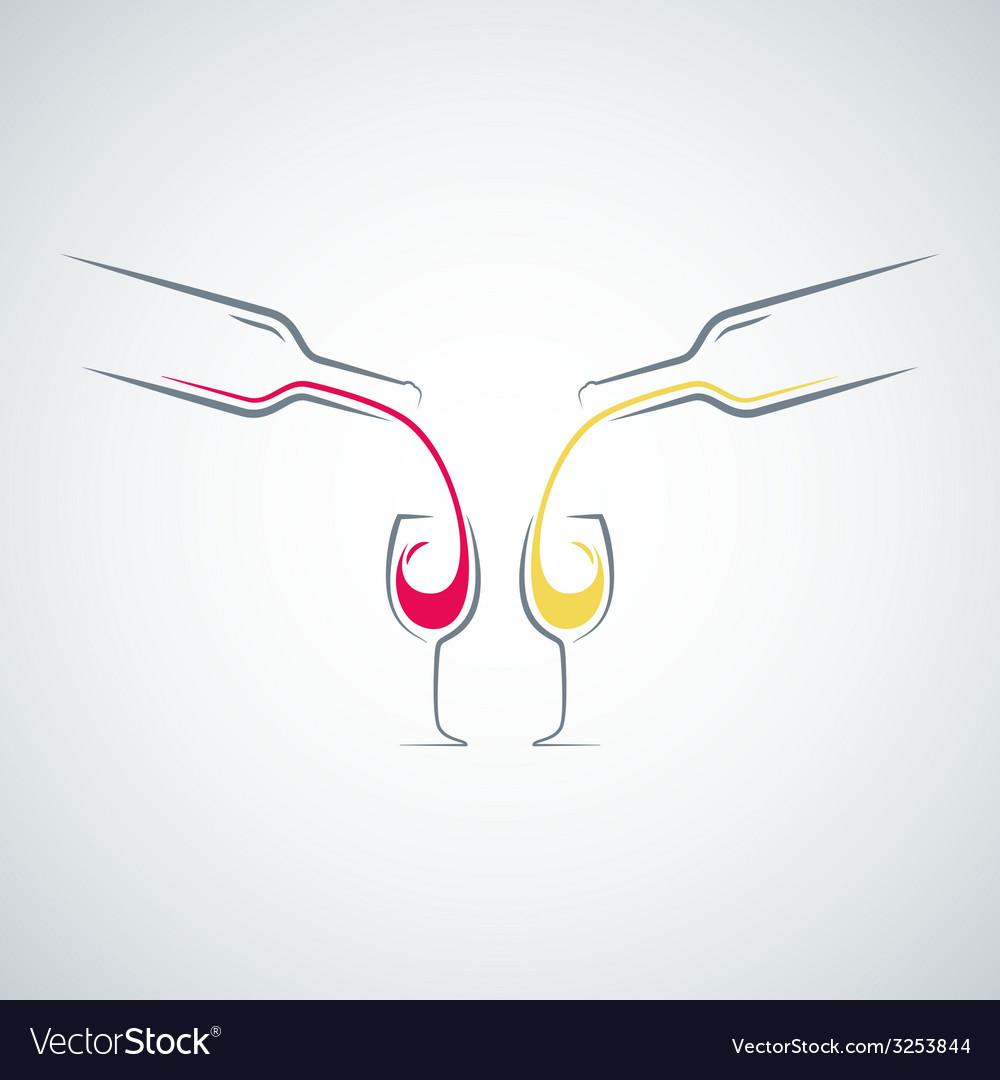 Wine glass bottle concept menu background vector | Price: 1 Credit (USD $1)