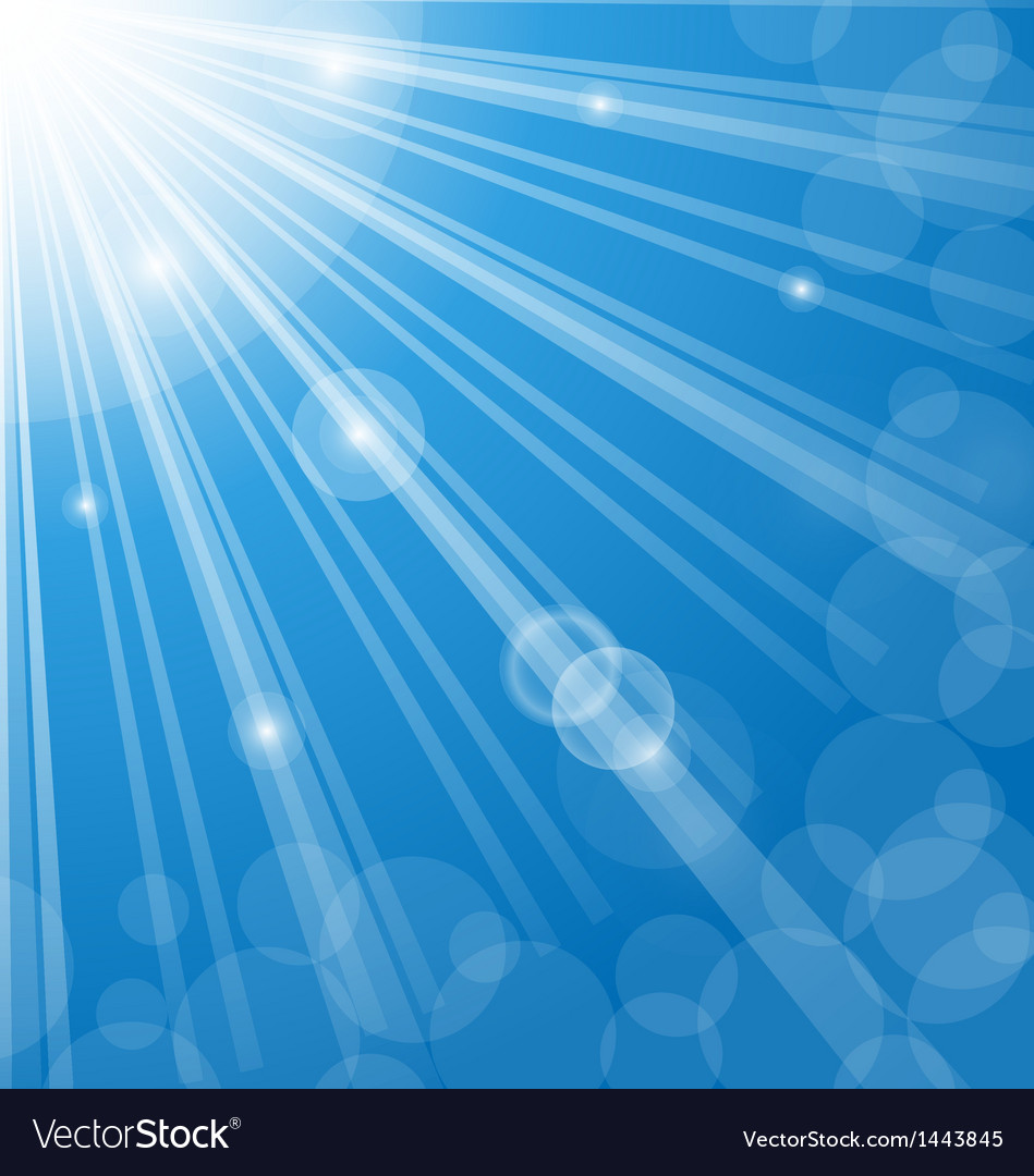 Abstract blue background with lens flare vector | Price: 1 Credit (USD $1)