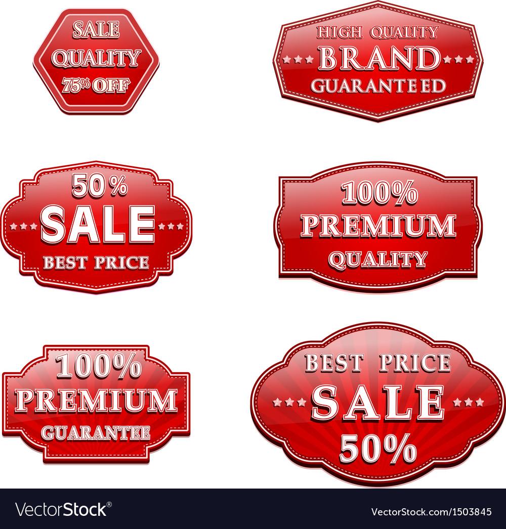 Badge design set vector   Price: 1 Credit (USD $1)