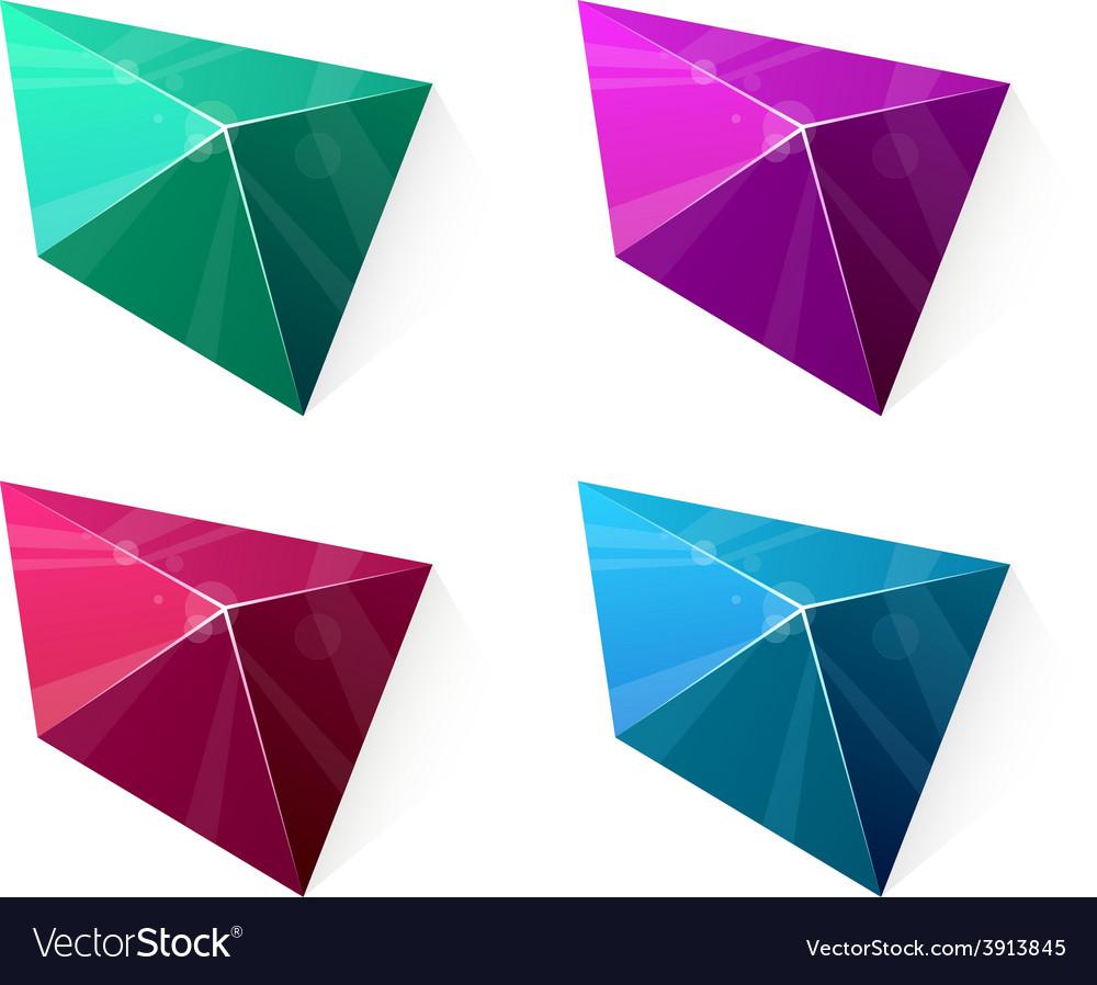 Clean vibrant pyramid vector | Price: 1 Credit (USD $1)