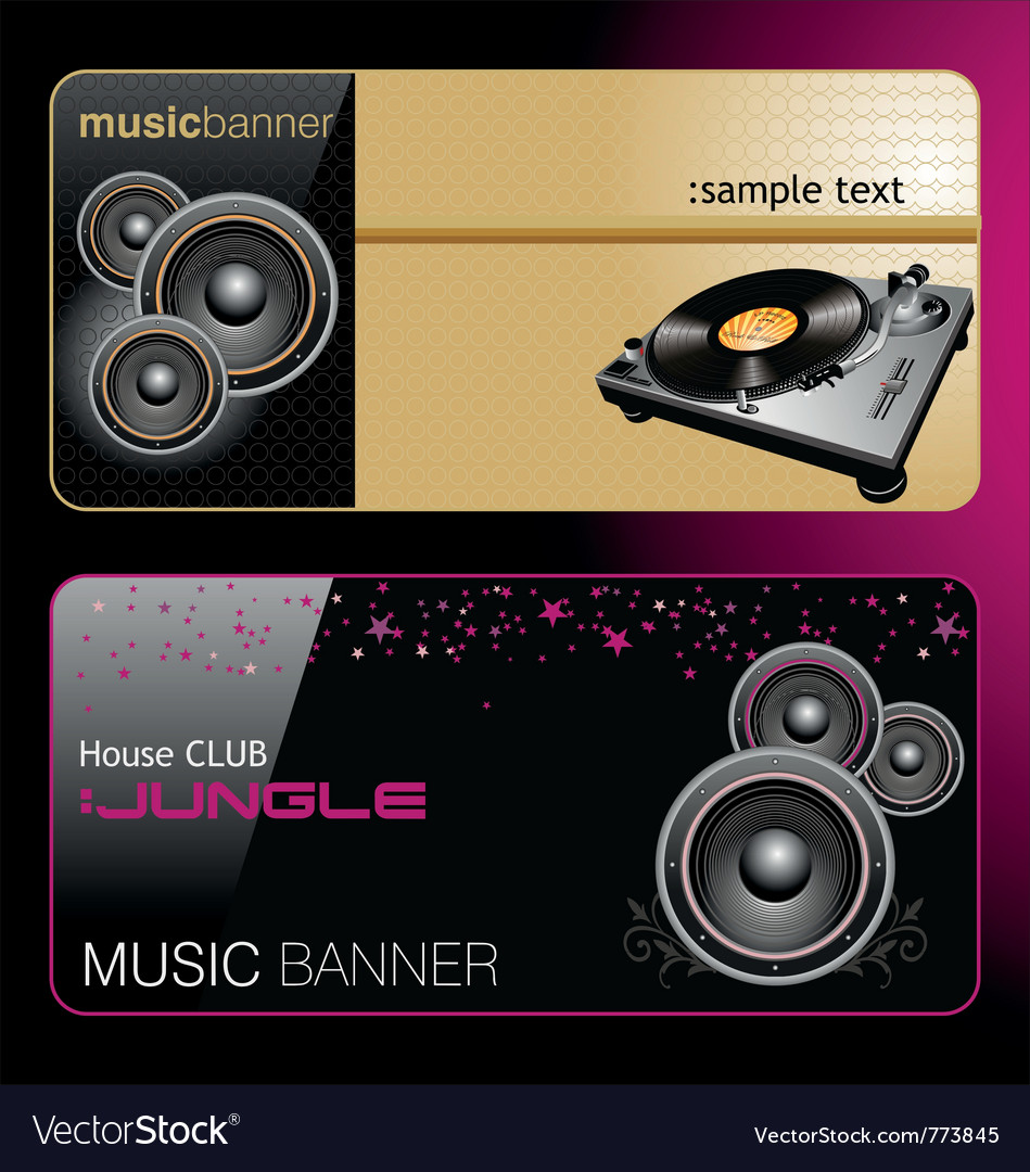 Elegant music banners vector | Price: 1 Credit (USD $1)