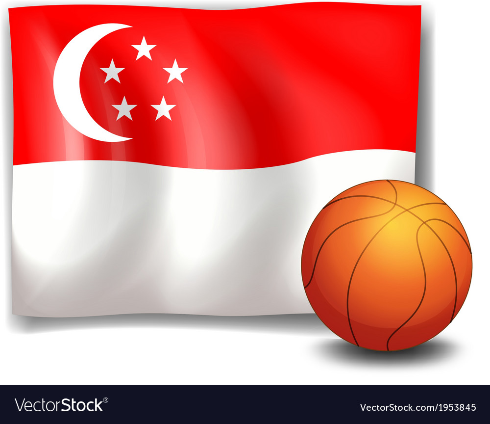 The flag of singapore with a ball vector | Price: 1 Credit (USD $1)