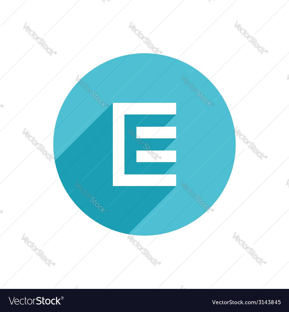 Letter e document logo icon design template vector | Price: 1 Credit (USD $1)