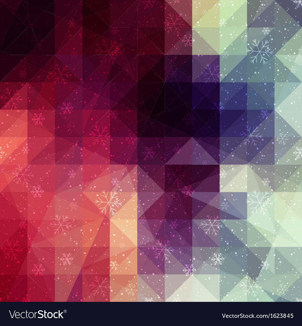 Red winter background with triangle texture vector | Price: 1 Credit (USD $1)