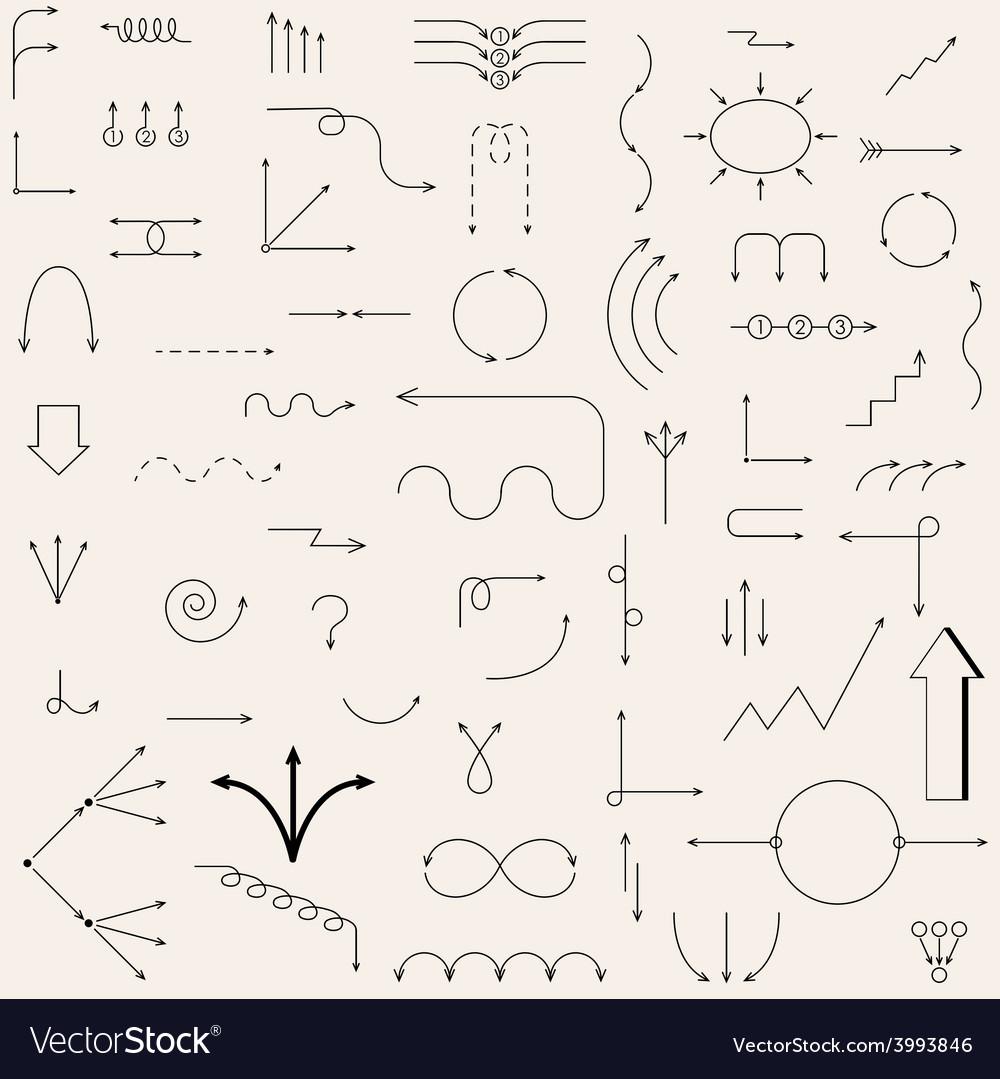 Arrows drawn vector | Price: 1 Credit (USD $1)
